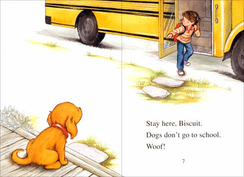 Biscuit Goes to School illustration